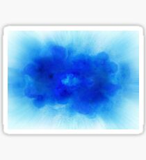 Abstract blue fire explosion with sparks isolated on white background Sticker