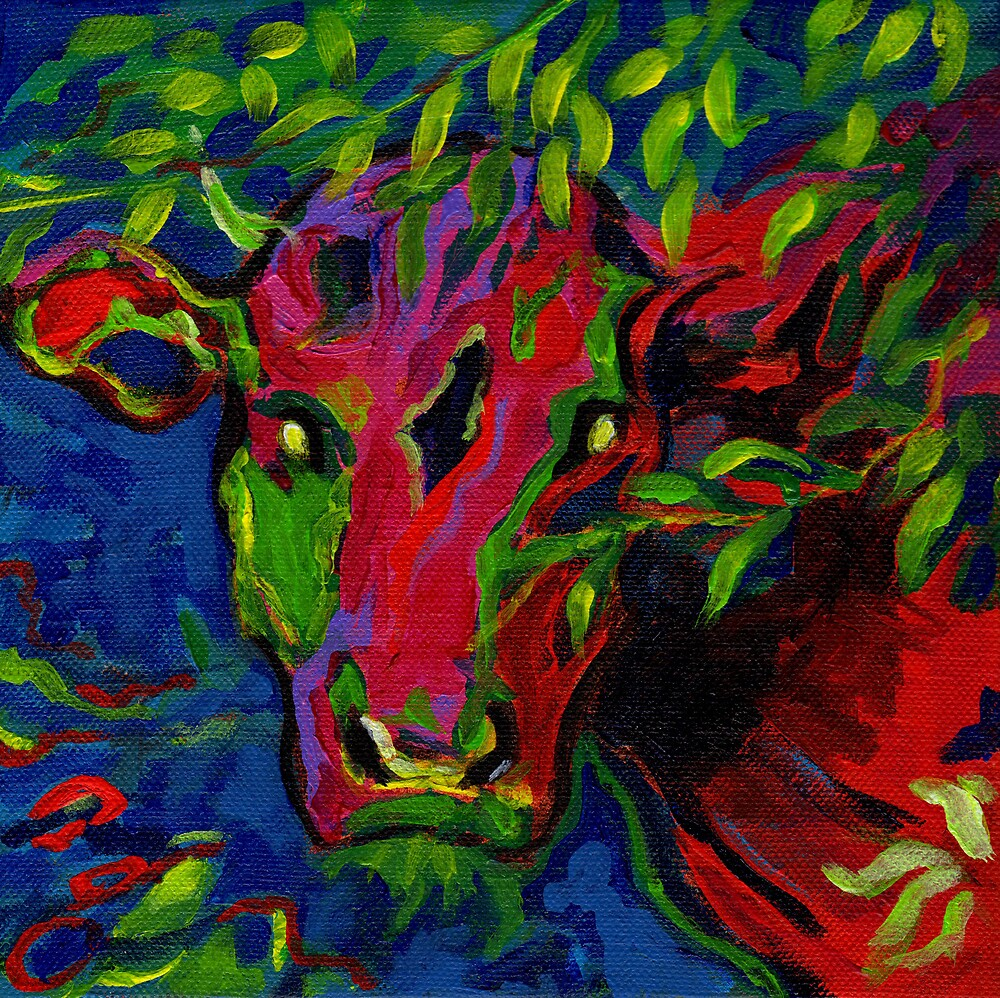 Colourful cow! by Maureen Whittaker