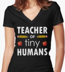 Kindergarten Teacher Gift Women's Fitted V-Neck T-Shirt