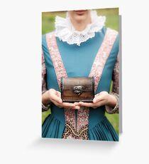 renaissance lady Greeting Card