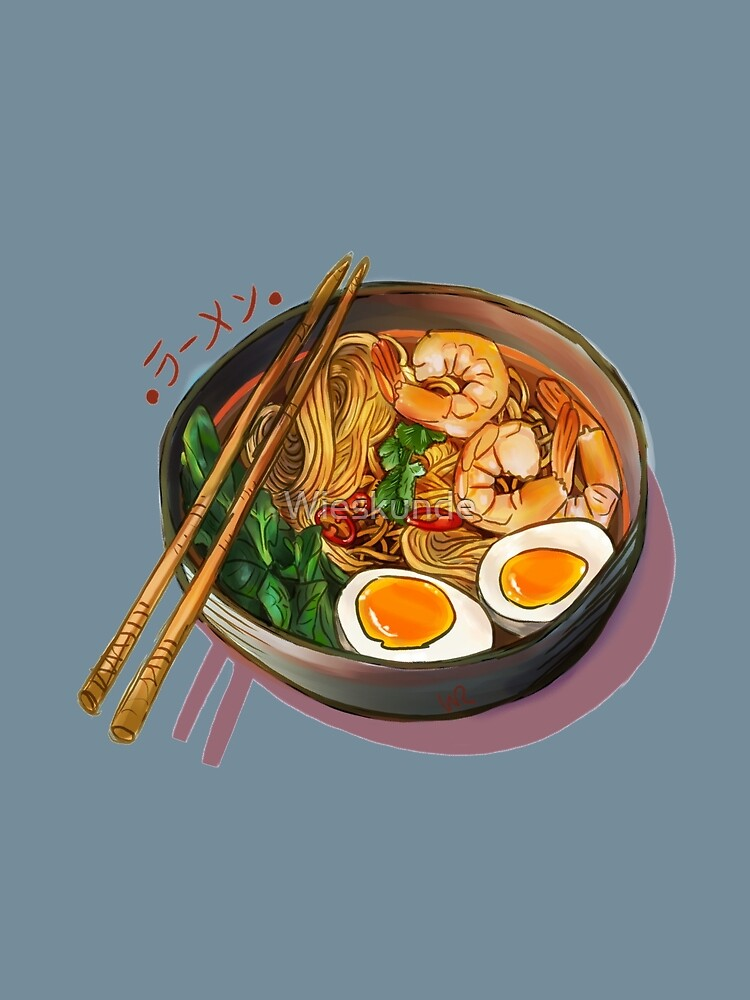 Japanses Ramen Noodles Bowl by Wieskunde