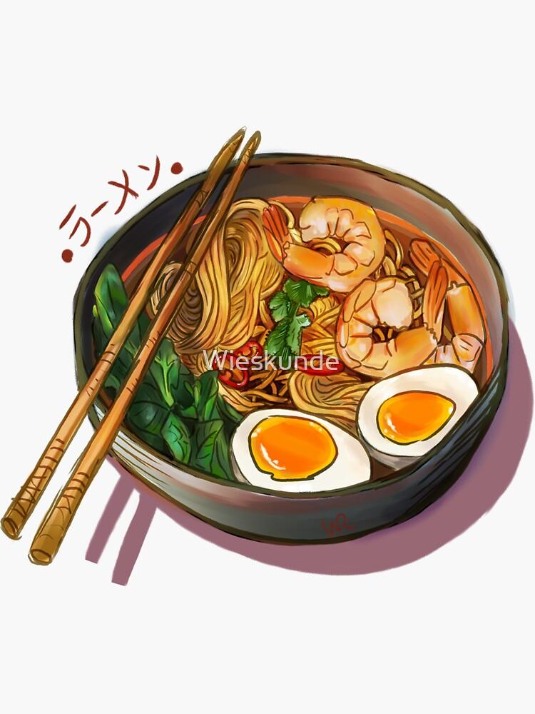 Japanses Ramen Noodles Bowl by Wieskunde
