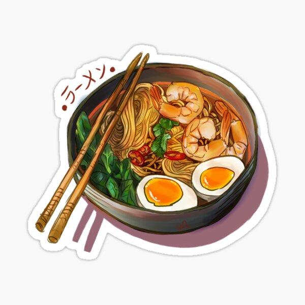 Japanses Tazón De Fideos Ramen Pegatina