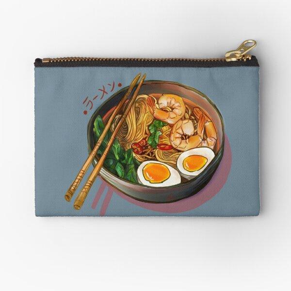 Japanses Ramen Noodles Bowl Zipper Pouch
