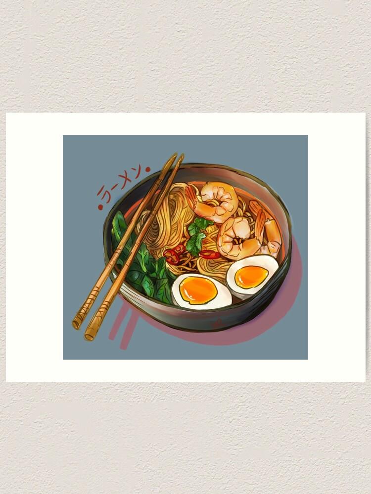 Alternate view of Japanses Ramen Noodles Bowl Art Print
