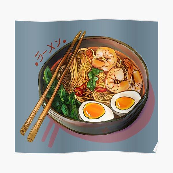 Japanses Ramen Noodles Bowl Poster