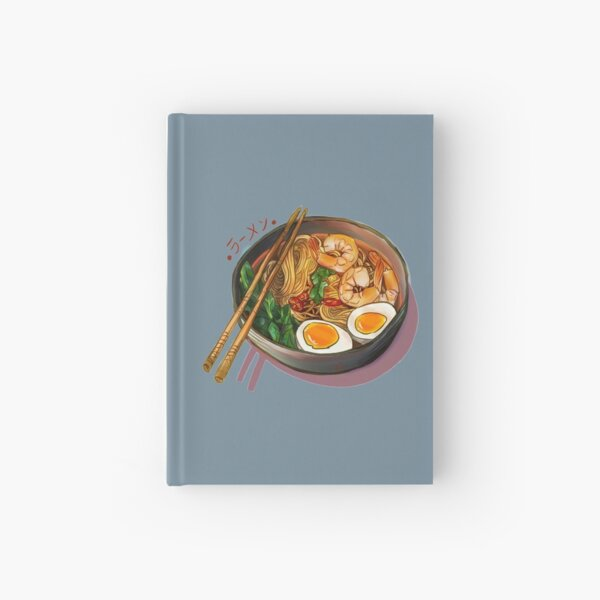 Japanses Ramen Noodles Bowl Hardcover Journal