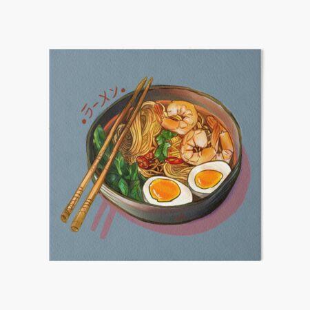 Japanses Ramen Noodles Bowl Art Board Print