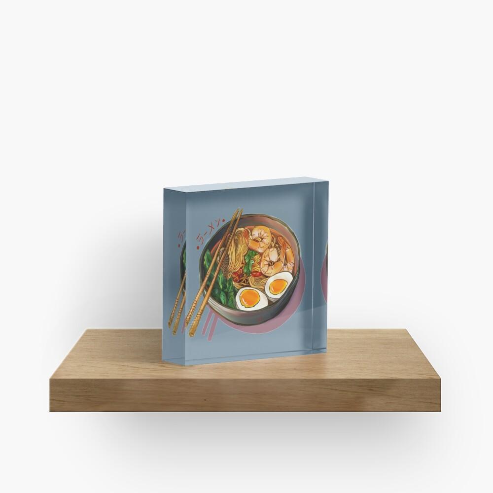 Japanses Ramen Noodles Bowl Acrylic Block