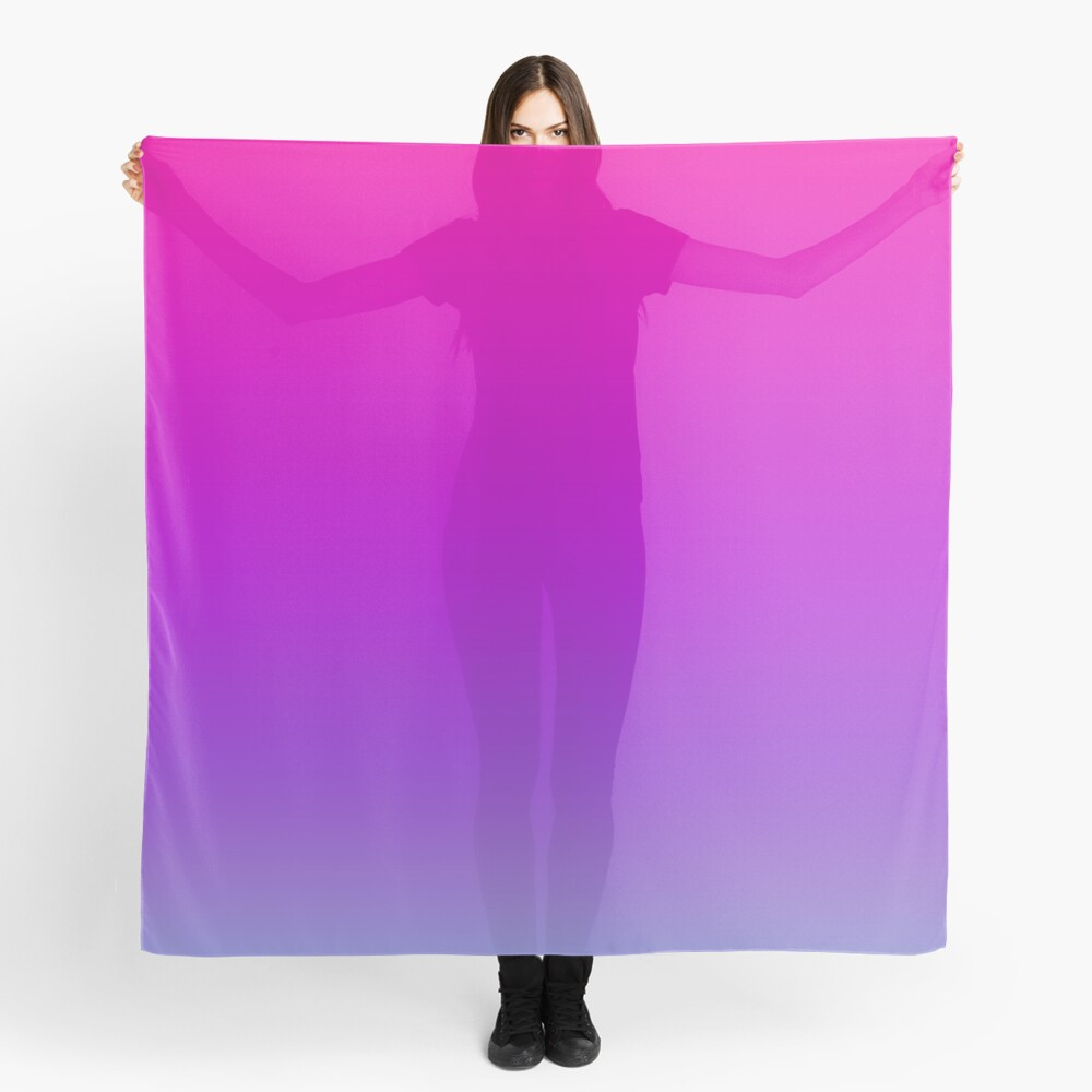 Pink and Purple Ombre Scarf