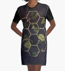 Bees in Space Graphic T-Shirt Dress