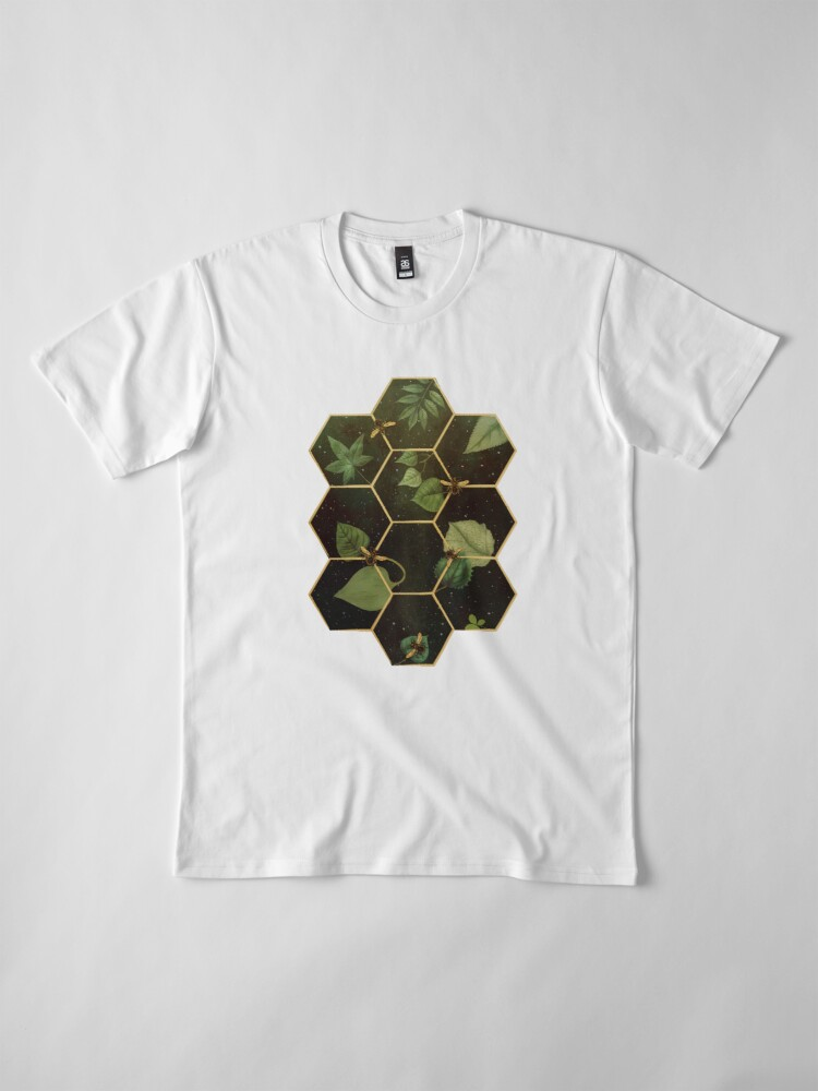 Alternate view of Bees in Space Premium T-Shirt