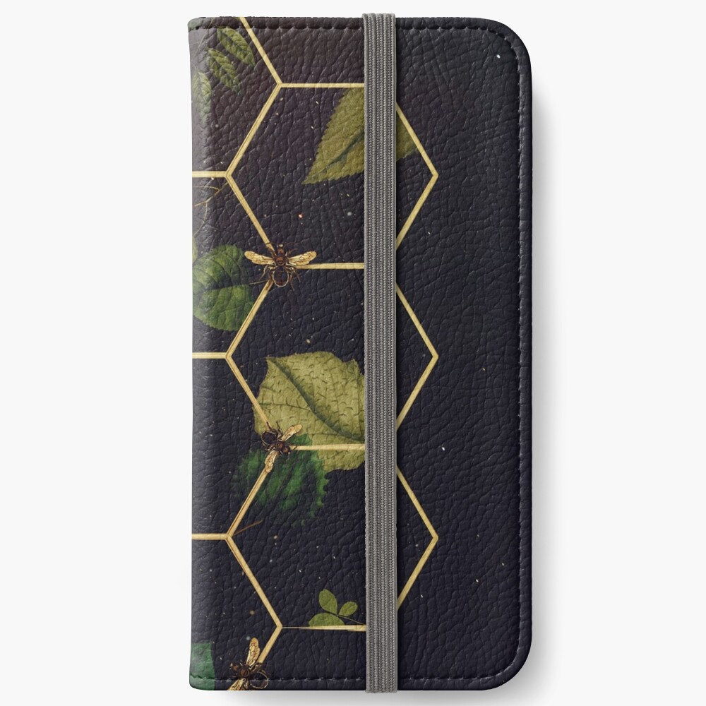 Bees in Space iPhone Wallet