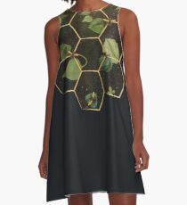 Bees in Space A-Line Dress