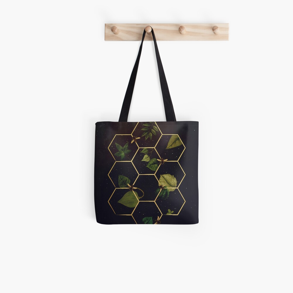 Bees in Space Tote Bag