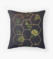 Bees in Space Throw Pillow
