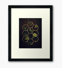 Bees in Space Framed Print