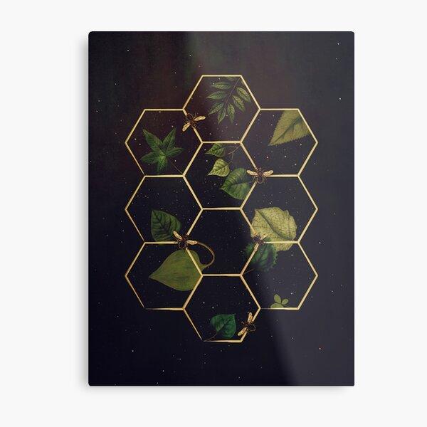 Bees in Space  Metal Print