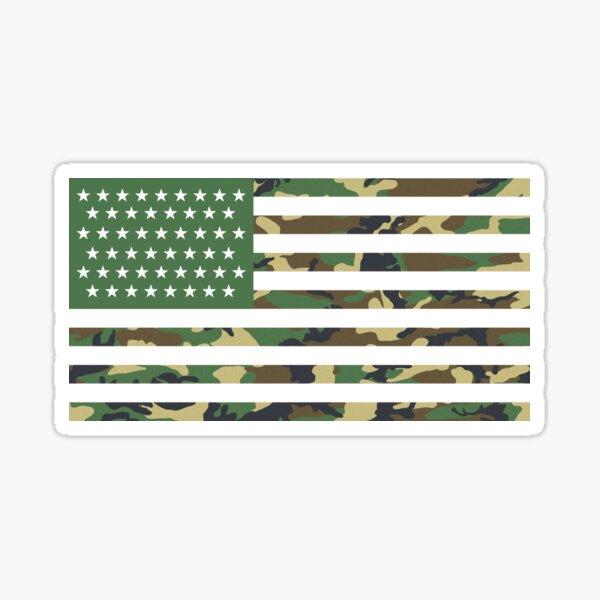 USA Flag - Camouflage - Horizontal Sticker