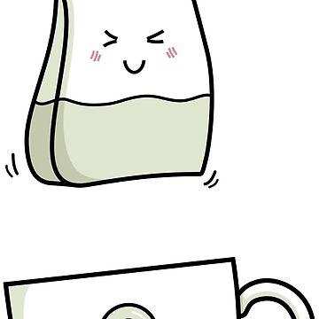 Cute Kawaii Tea Love (version 2) by freeves
