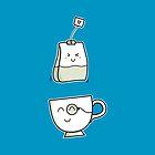 Cute Kawaii Tea Love (version 2) by Fiona Reeves