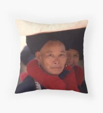 Mien Lady Throw Pillow