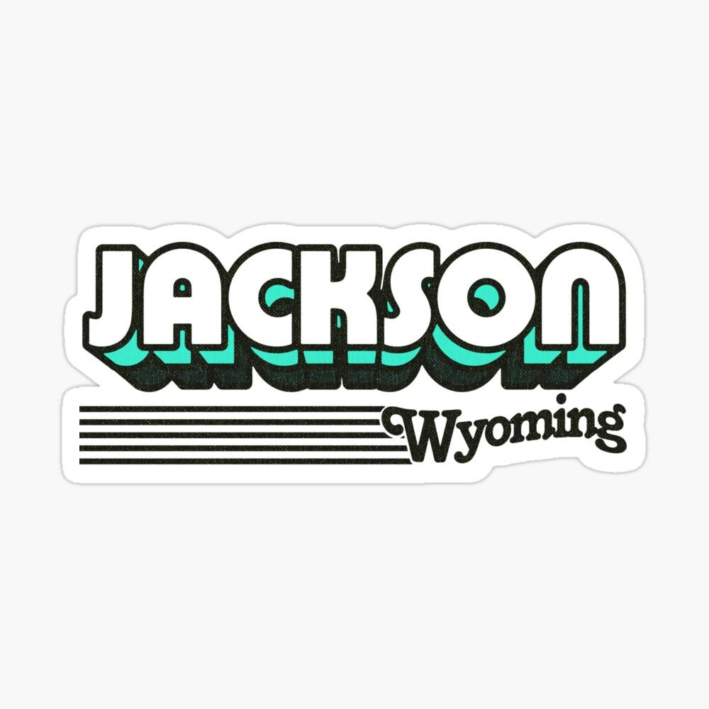 Jackson, Wyoming | Retro Stripes Sticker