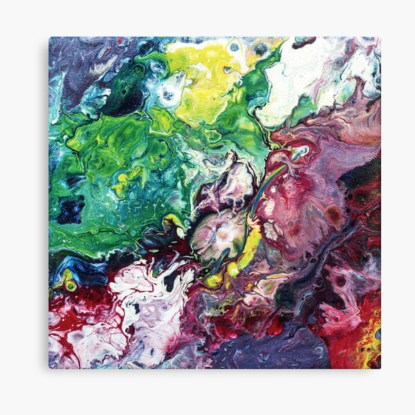 Abstract Fluid Art Painting Canvas Print