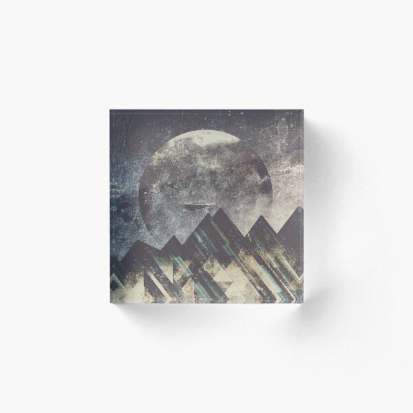 Sweet dreams mountain Acrylic Block
