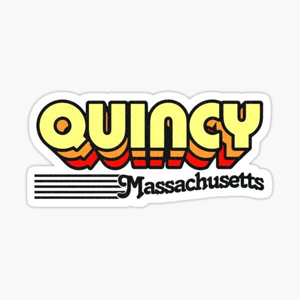 Quincy, Massachusetts | Retro Stripes Sticker