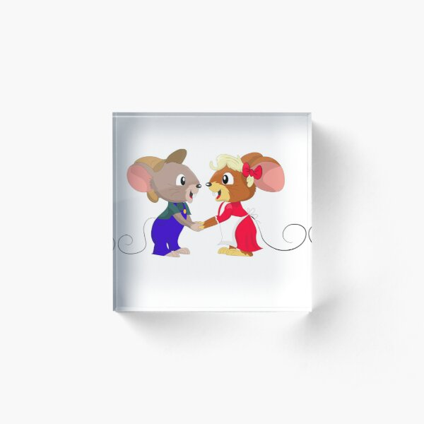Cartoon Mice Couple Acrylic Block