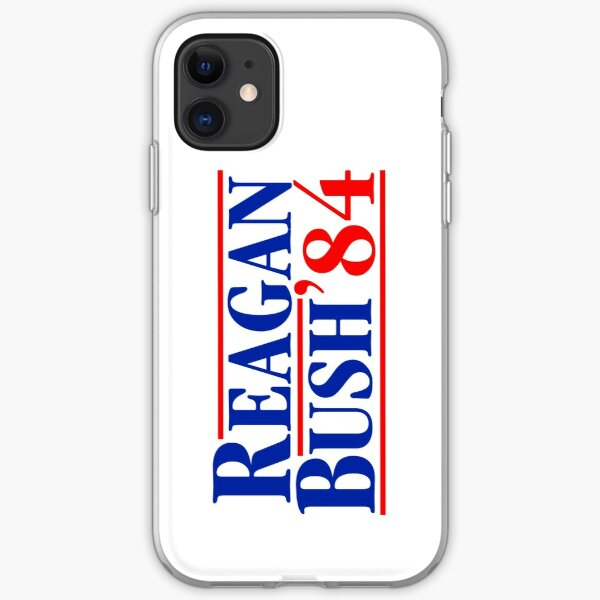 Reagan Bush 84 iPhone Soft Case