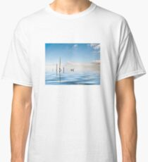 Water reed with water reflection Classic T-Shirt