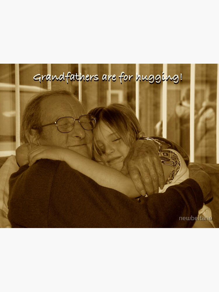 Hugging Grandpa by newbeltane