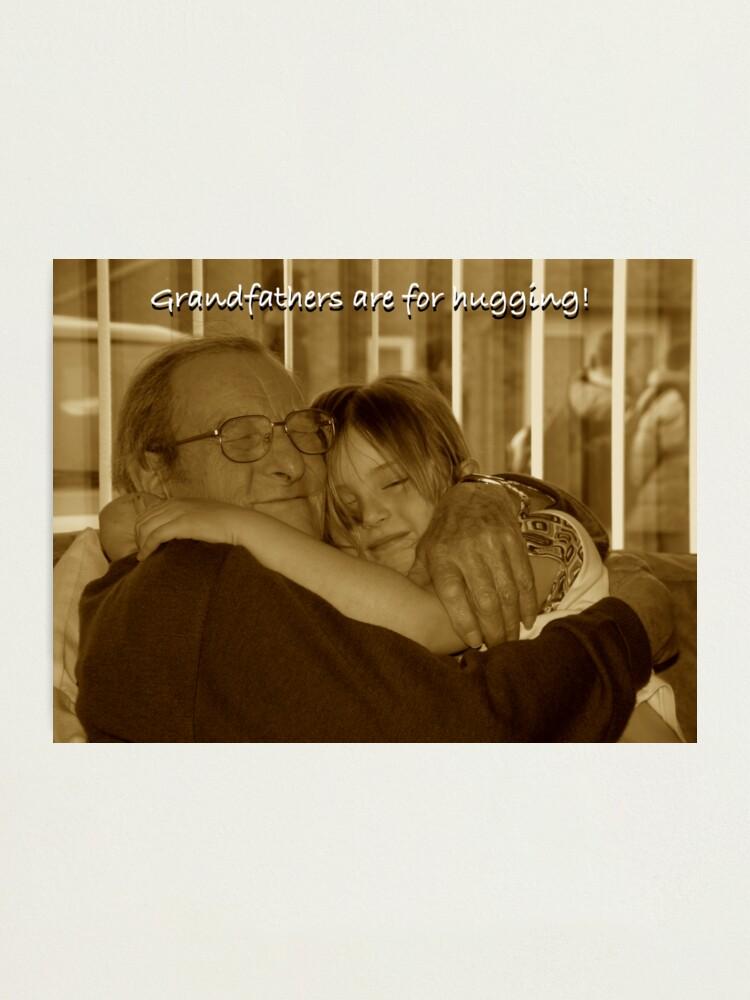 Alternate view of Hugging Grandpa Photographic Print