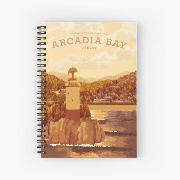 La vie est étrange - Affiche de voyage Arcadia Bay (Sunset) Cahier à spirale