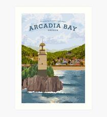 Life is Strange - Arcadia Bay Travel Poster (Day) Art Print