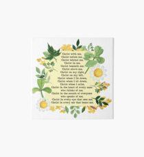 St. Patrick's Breastplate Prayer Art Board Print