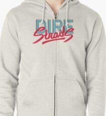 Dire Straits band logo Zipped Hoodie