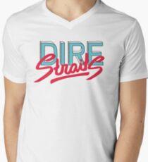 Dire Straits band logo V-Neck T-Shirt