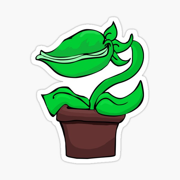 Cute Audrey 2 Plant Sticker