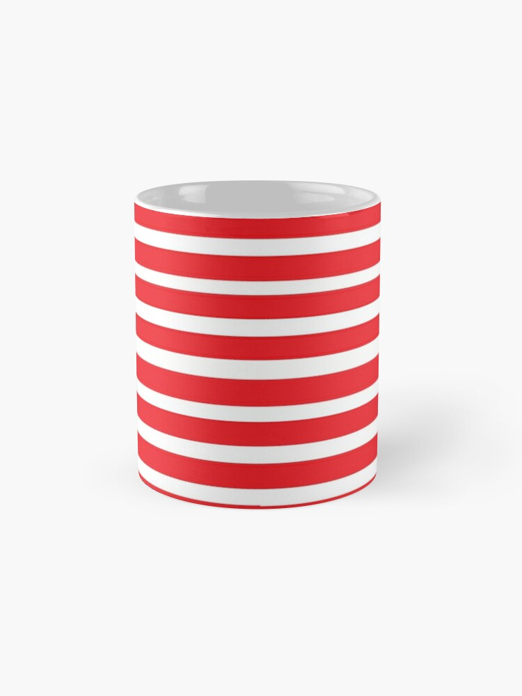 Alternate view of Red and white stripes Mug