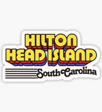Hilton Head Island, South Carolina | Retro Stripes Sticker