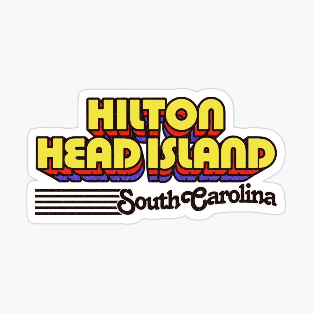Hilton Head Island, South Carolina | Retro Stripes Sticker