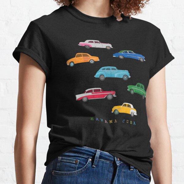 Havana, Cuba - Vintage Cars Illustration Classic T-Shirt