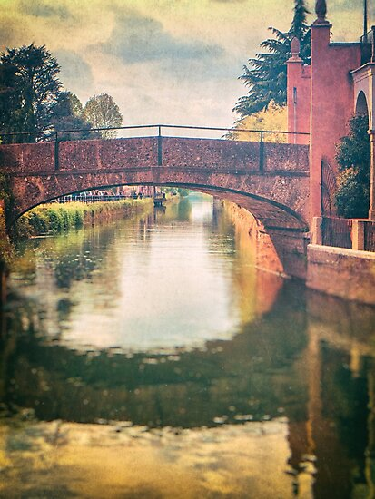 Italian waterway and bridge by Silvia Ganora