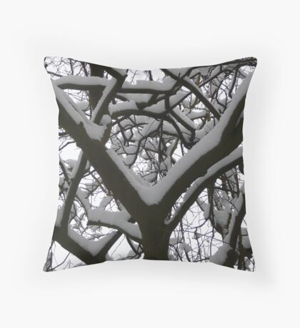 yeayyyy its snowing !!!!! Throw Pillow