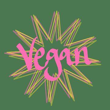 vegan - simple starburst print by chipsandsalsa
