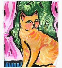 Peachy the Cat Poster