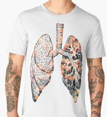 Lungs - Flowers  Men's Premium T-Shirt